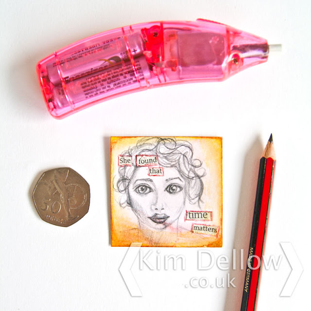 A miniature face drawing