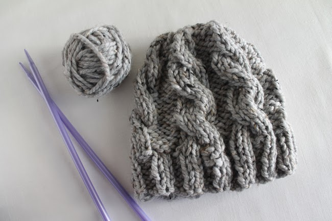 Lula Louise: Free Pattern   Chunky Cable Knit Hat (Revised)