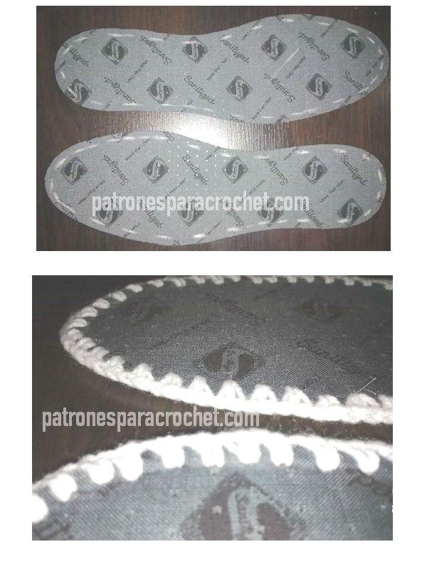 como marcar plantillas para pantuflas