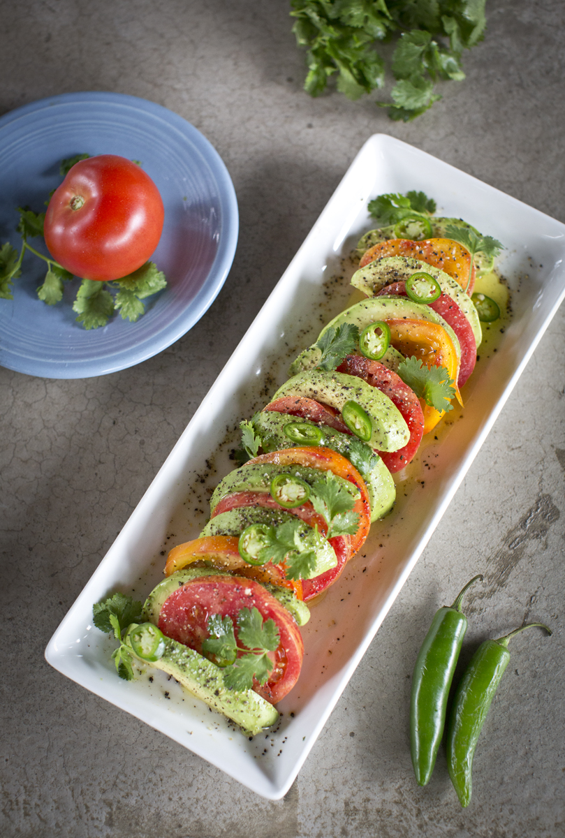 The Chubby Vegetarian: Vegan Avocado and Heirloom Tomato Caprese