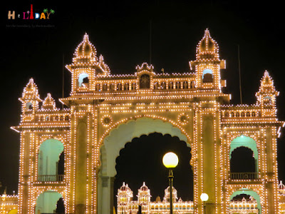 Entrance gate of the Mysore Palace