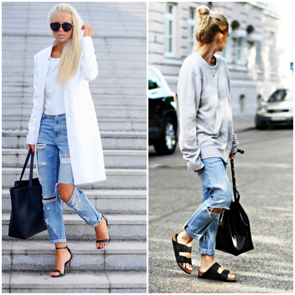 What To Wear With Ripped Boyfriend Jeans - Jeans Am