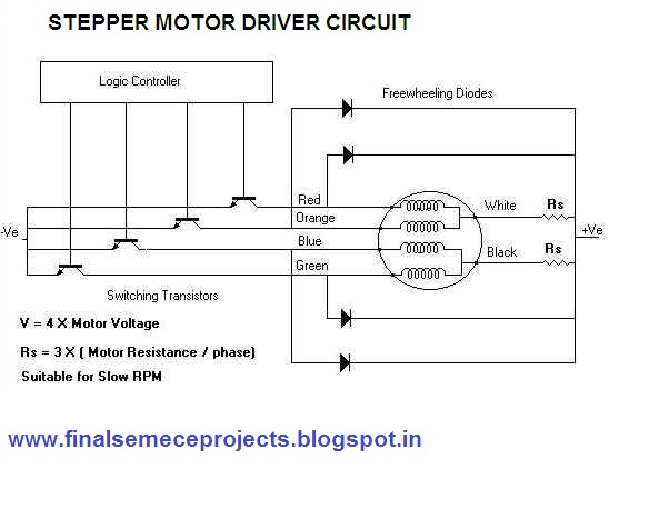 Gsm Technology Based Theft Alert System For Bank Locker: step motor driver circuit