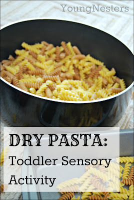 Toddler Sensory Activity with Dry Pasta