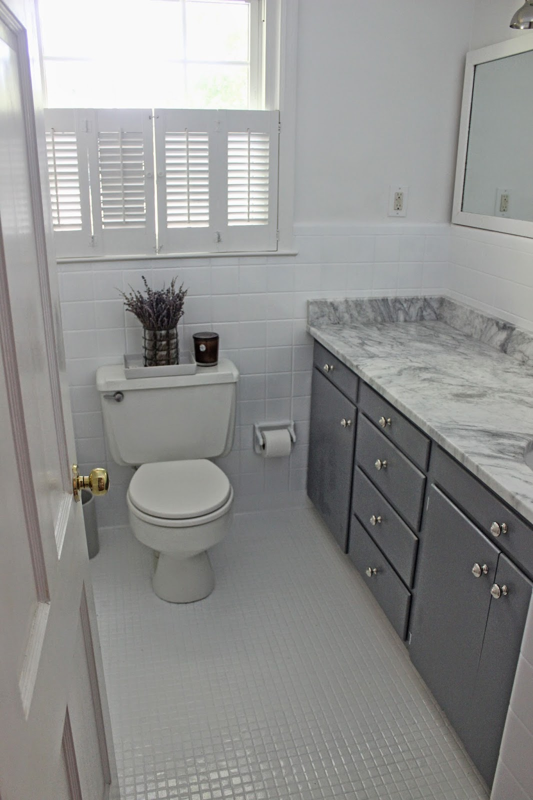 the long and short of it Budget Bathroom Makeover