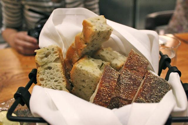 Bread basket at Catalyst, Cambridge, Mass.