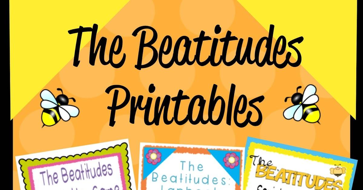 beatitudes worksheet