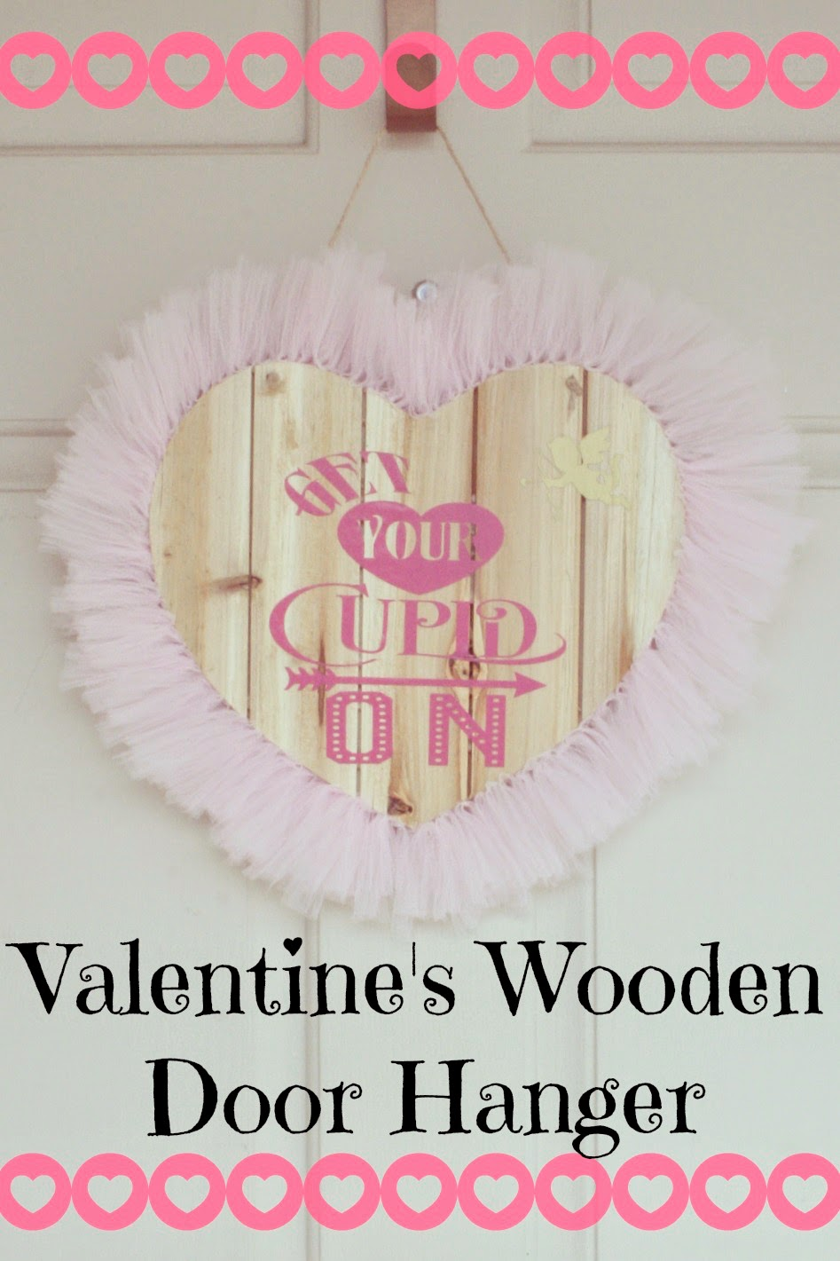 Valentines door hangers, wooden heart door hangers, silhouette vinyl on wood, Silhouette wreath, tutu door hanger.