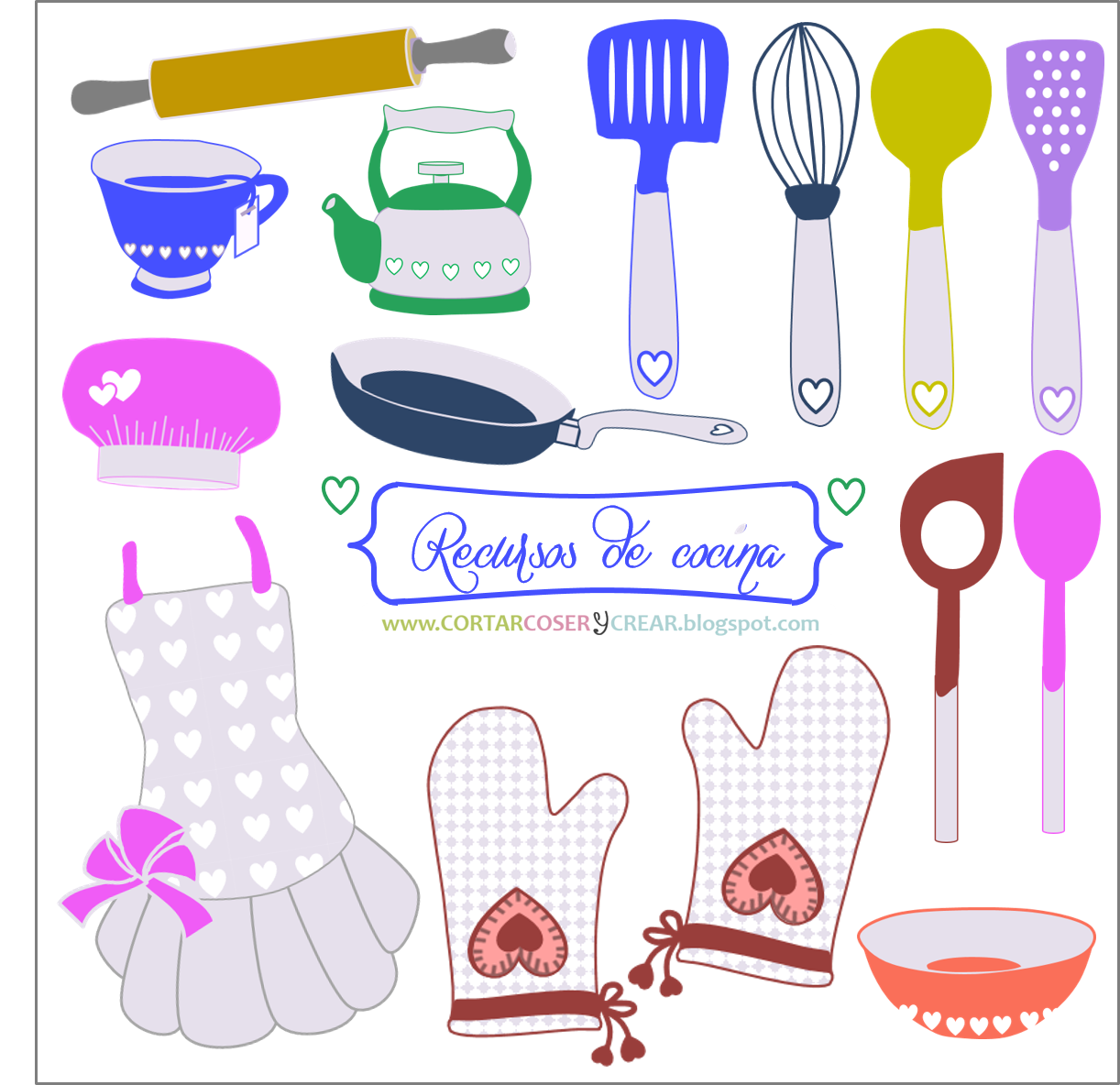 set recursos digitales gratuitos cocina