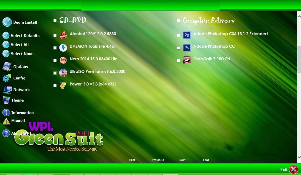 اسطوانة البرامج الذكية والرائعة WPI Green Suit 2014 حصريا تحميل مباشر WPI+Green+Suit+2014+2