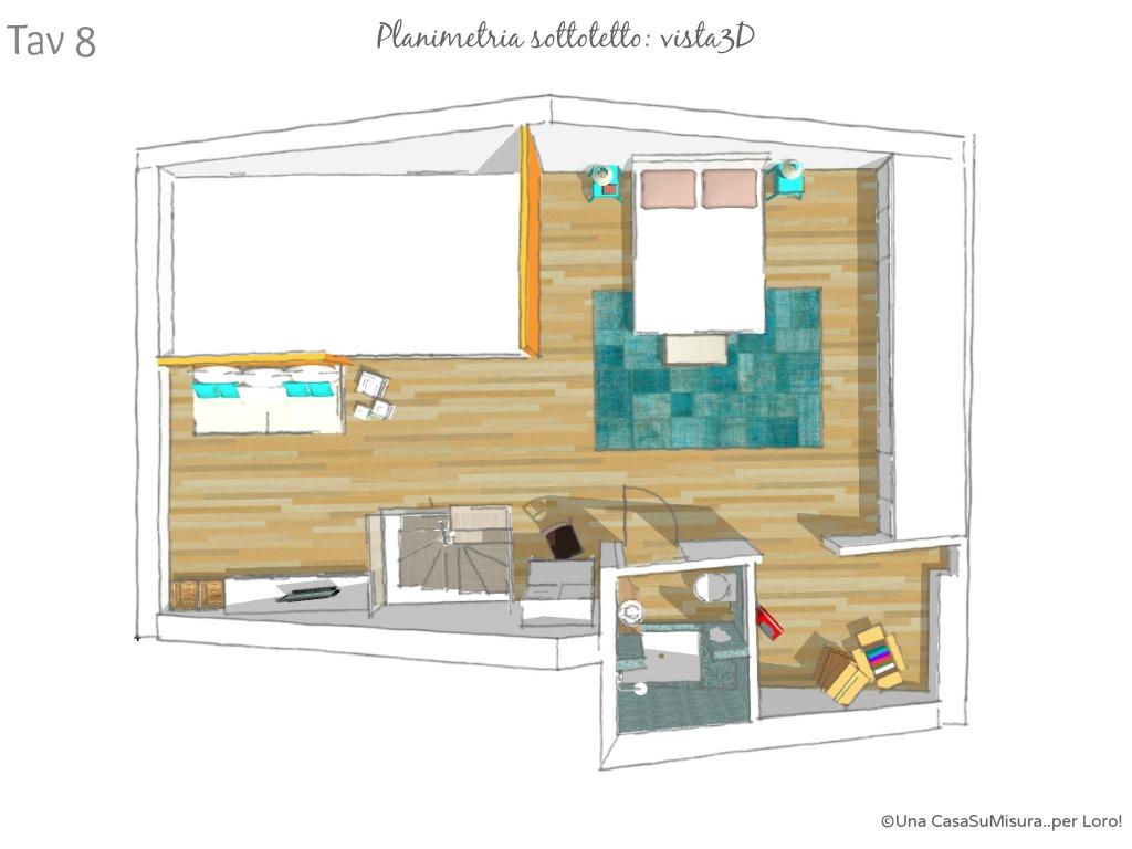 Il Sottotetto Prende Nuova Vita. Da Lavanderia A Piccolo Open Space  #15B6B1 1024 768 Cucine X Casa Al Mare