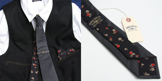 modern floral wedding tie