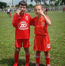 Compañeros del equipo Campeón