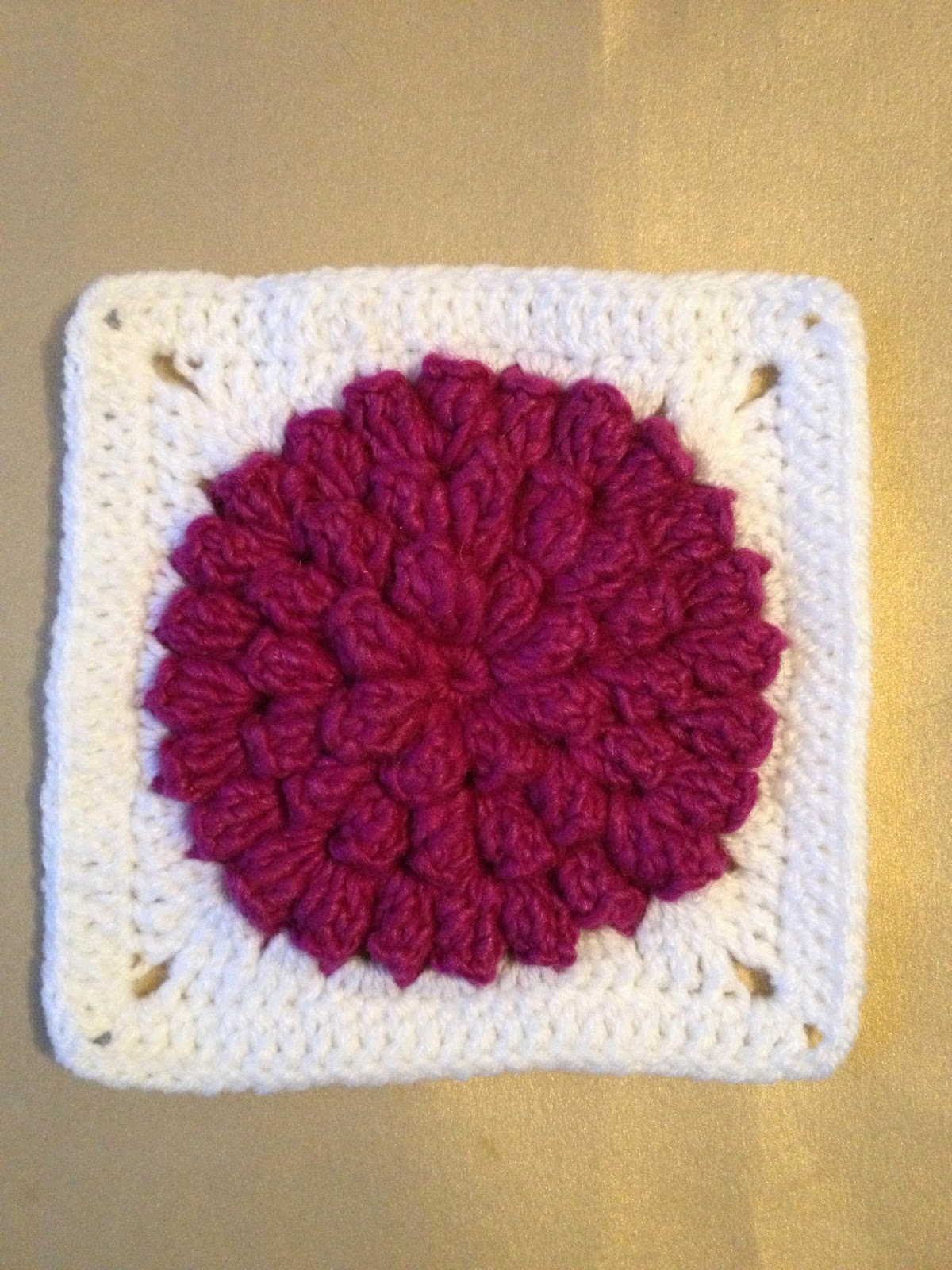 365 Granny Squares Project: Popcorn flower.....