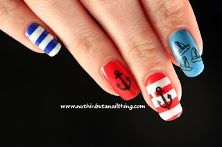 nautical sailor nail art