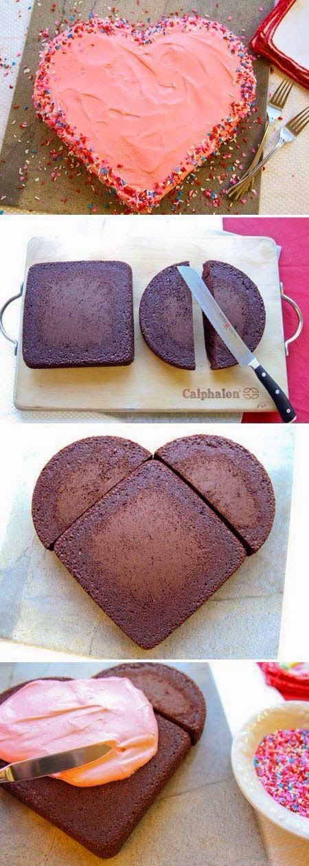 Heart Shaped Valentine's Cake Easy