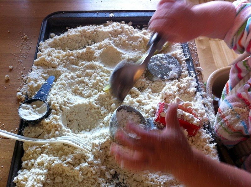 Playing with flour