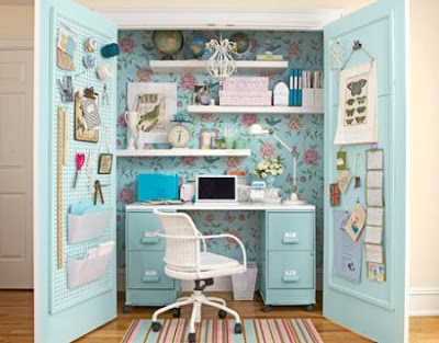 closet home office decor work room decorating ideas Gain de place: trucs et astuces