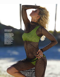 Karolina Kurkova exposes her sexy ass and hot boobs for Harpers Bazaar Spain June 2015