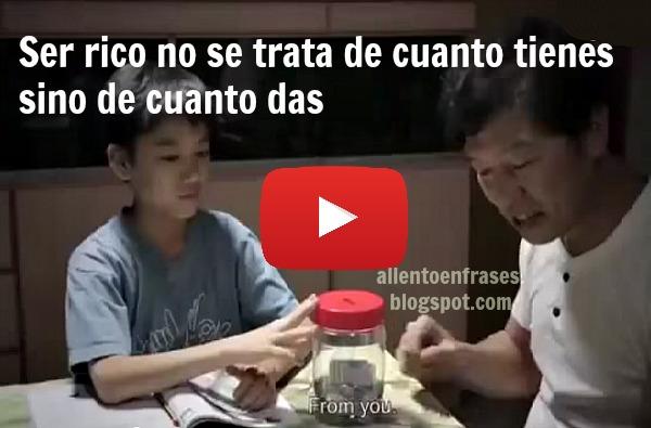 Un video que te hará llorar, lo que es ser rico, un padre que su hijo lo veía como fracasado, mira lo que pasa.