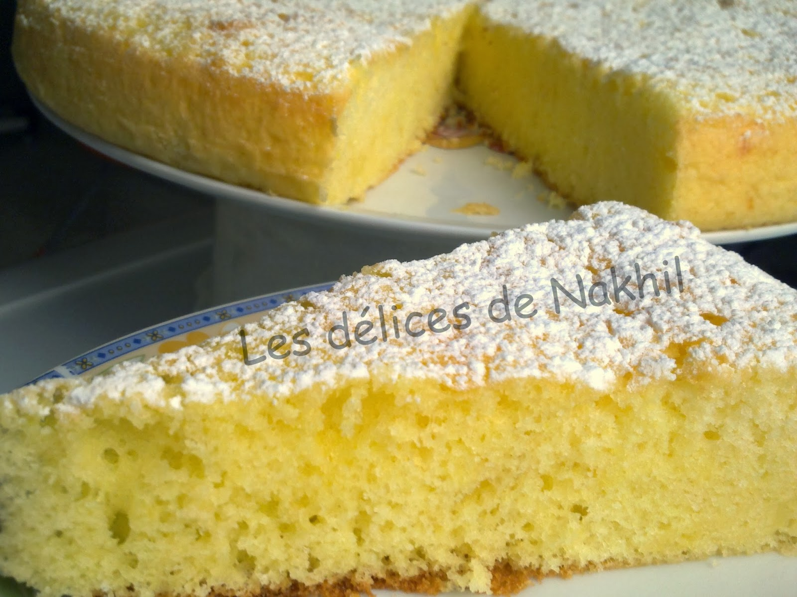 Gateau moelleux arome citron