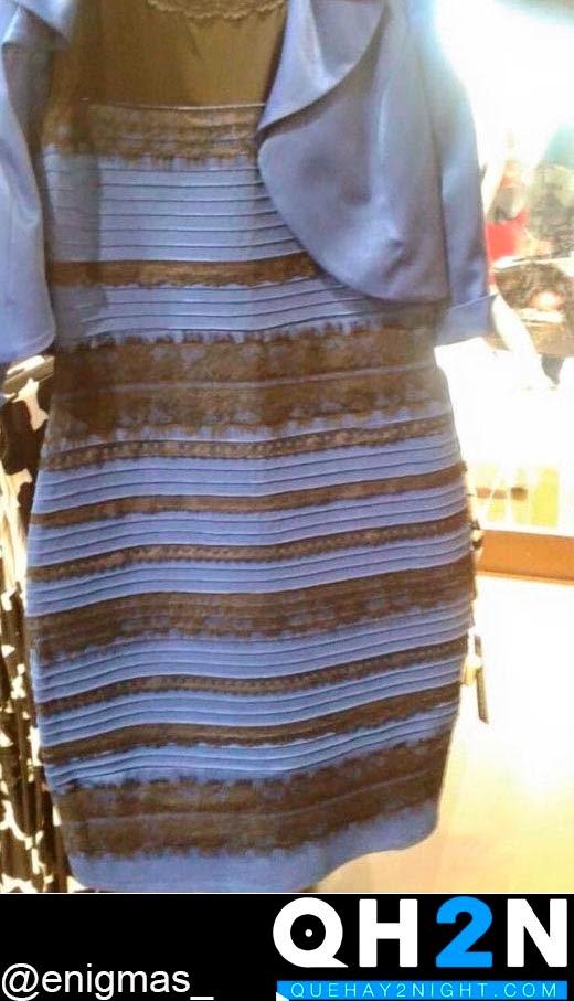 por que vemos vestido azul negro dorado hoax truco explicacion blanco