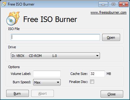 ISO檔燒錄光碟軟體:Free ISO Burner Portable 免安裝版下載