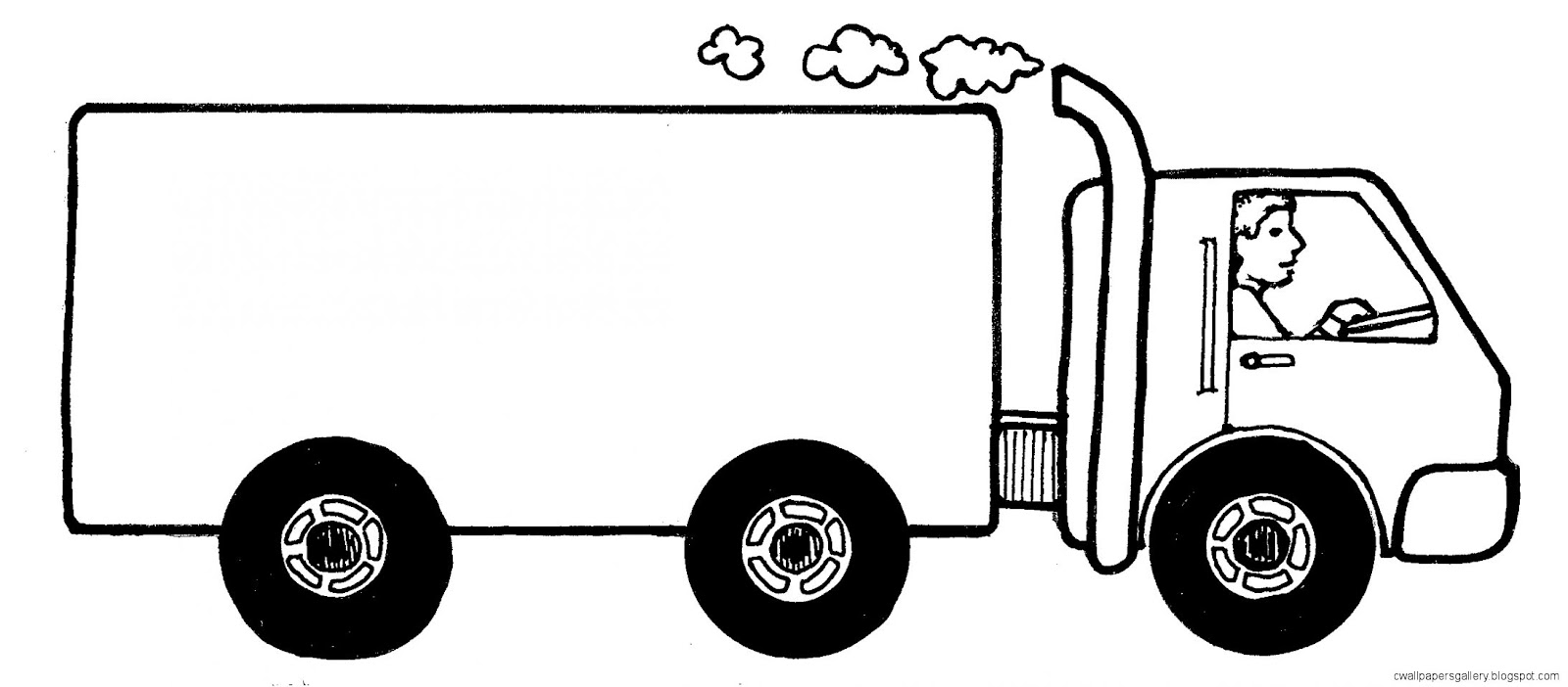 Truck Clip Art Black and White