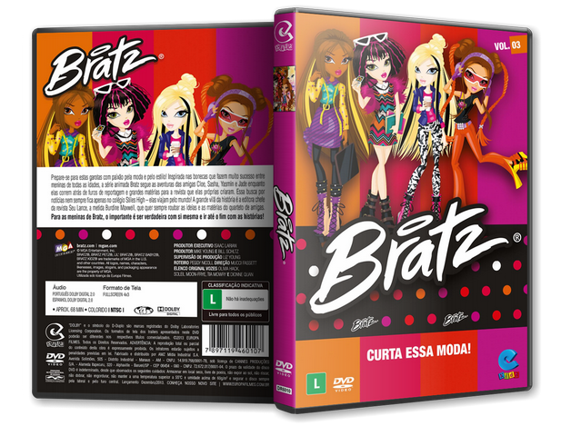 Capa DVD Bratz Vol 3