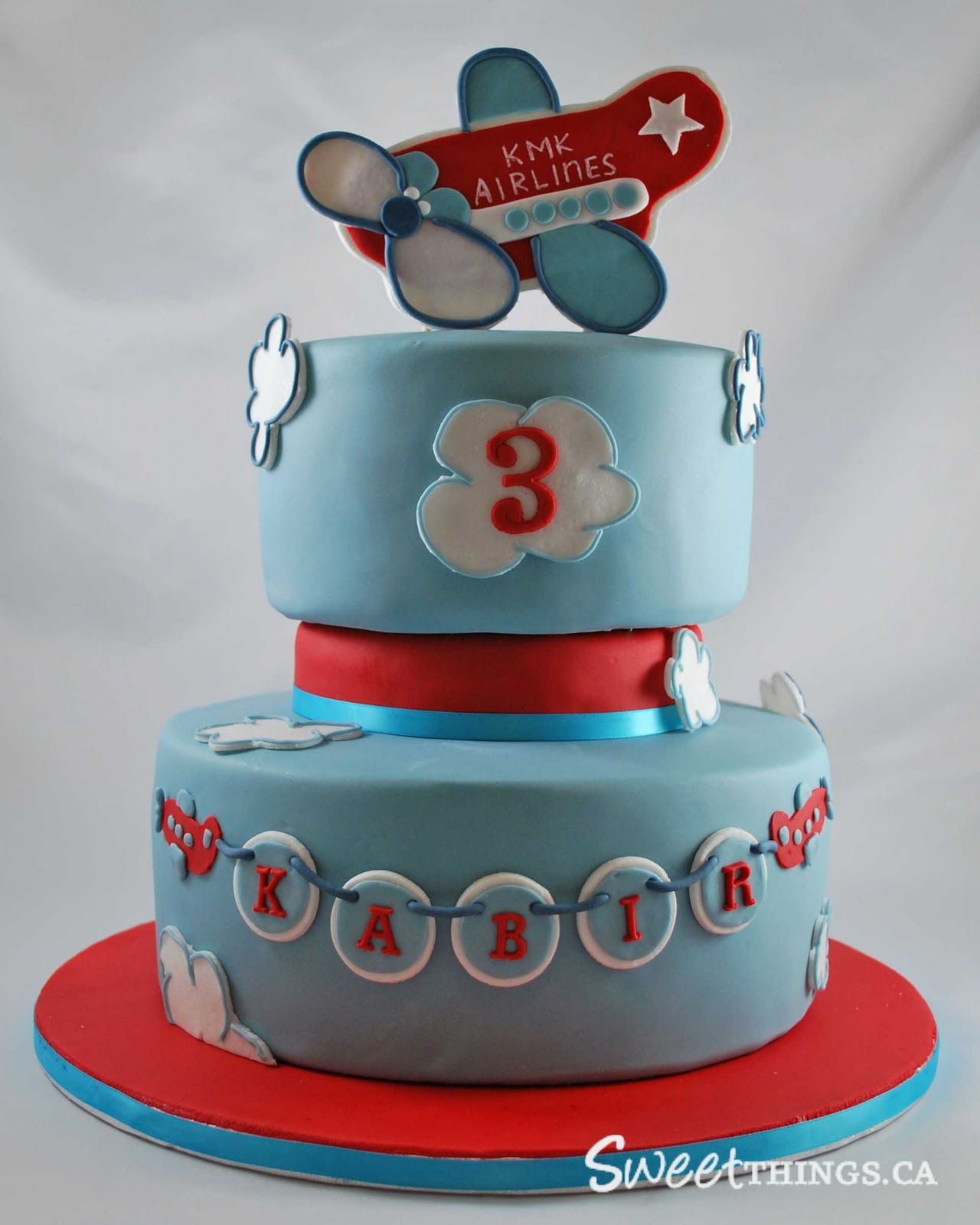 Images Of Plane Cake : SweetThings: 3rd Birthday Cake: Cute Airplane Cake