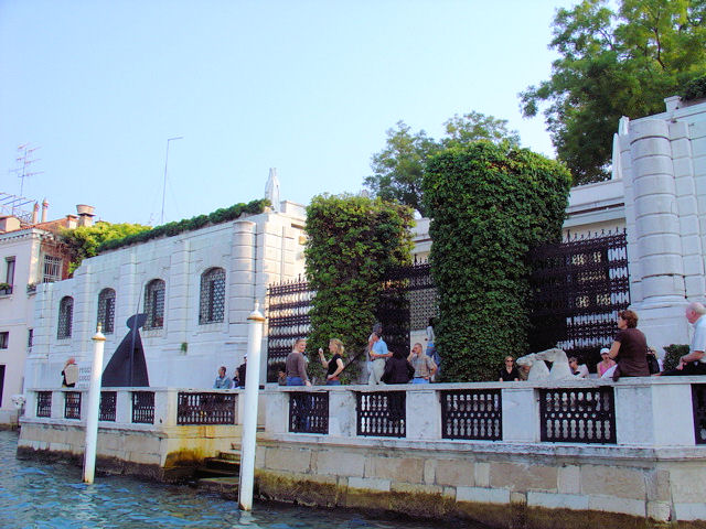 The Peggy Guggenheim Collection is located in what was to become Ms. Guggenheim's palazzo on the Grand Canal.