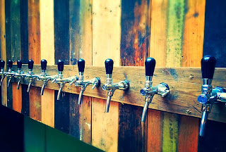 Craft beer tap wall