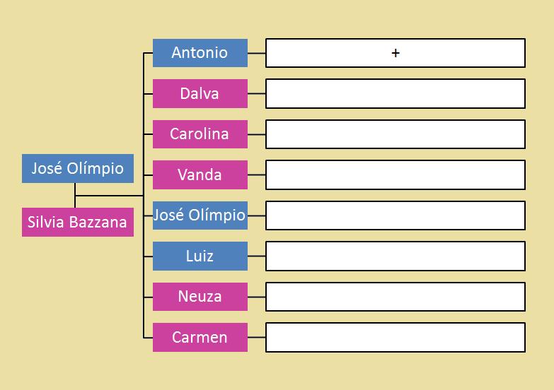 preservação e história da familia bazzana Árvore genealógica de