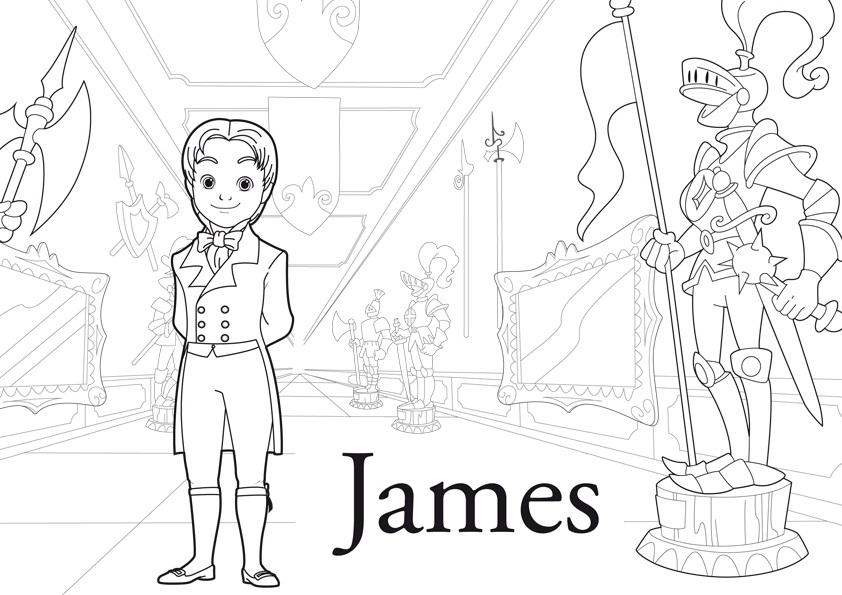 Dibujo del Príncipe James para Colorear ~ Colorea el dibujos