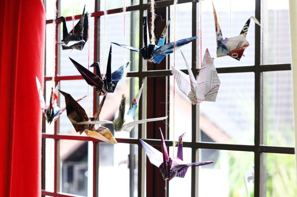 how to make paper crane garland