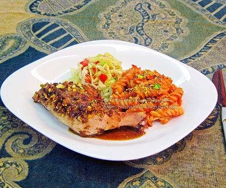 Pistachio Dukkah Roast Chicken دجاج مشوي بالدقة بالفستق