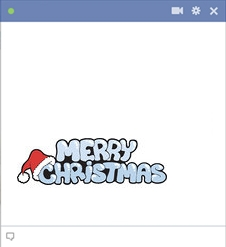 Facebook Merry Christmas Emoticon