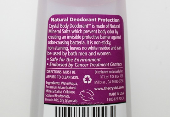 Crystal Body Deodorant Roll On