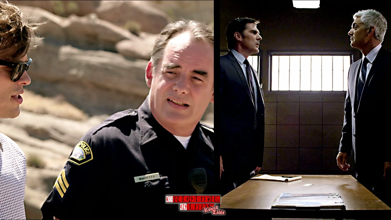 criminal minds round table  the episode for me was the interview the sect leader herbert sykes by hotch and jj hotch quickly deduced the underbelly of sykes and his main goal