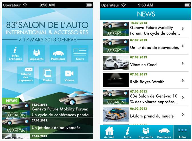 Geneva Motor Show iOS App