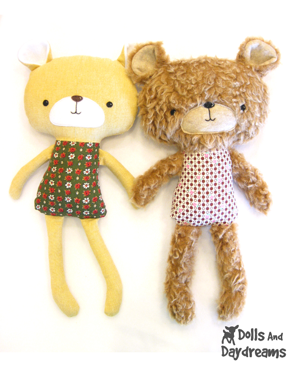 ... Patterns: Teddy Bear Softie Stuffed Toy PDF Sewing Pattern Finished