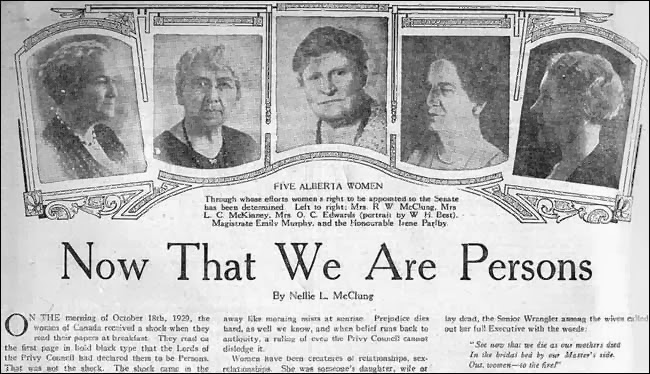 Olive Tree Genealogy Blog: Women's History Month: Irene Parlby One of the Famous Five