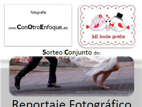 Con Otro Enfoque y Mi boda gratis sortean: Reportaje Fotográfico de Boda Completo + PhotoGuest