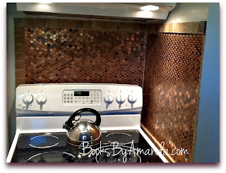 Amanda's finished penny backsplash