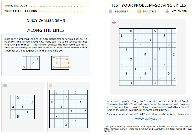 Along The Lines Puzzles