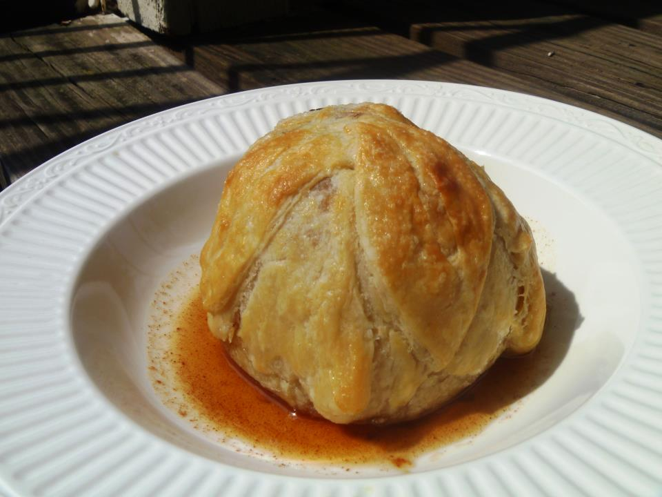 ... the Delebear: Furlough Monday Peach Dumplings (plus an apple dumpling