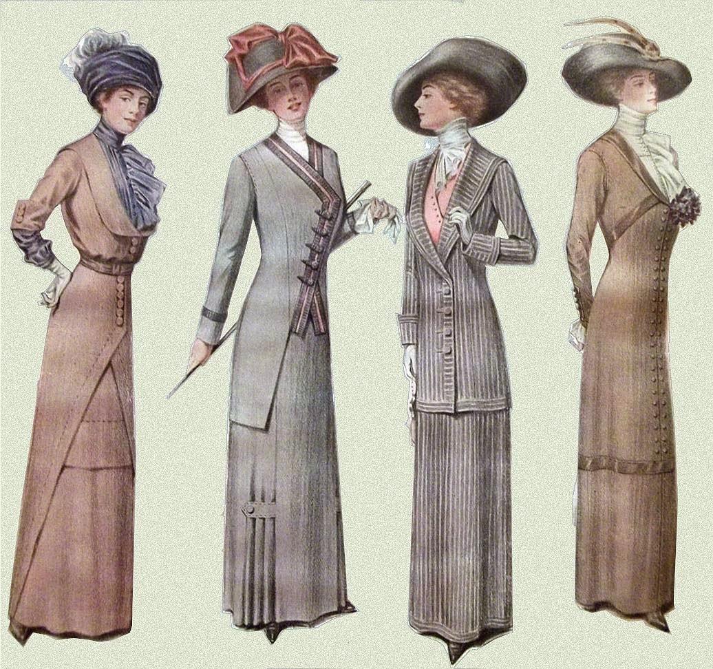 Vestidos de mujer 1900