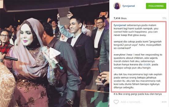 Dato Siti dan Fynn Jamal Beri Mesej Deep Mengenai Kehamilan