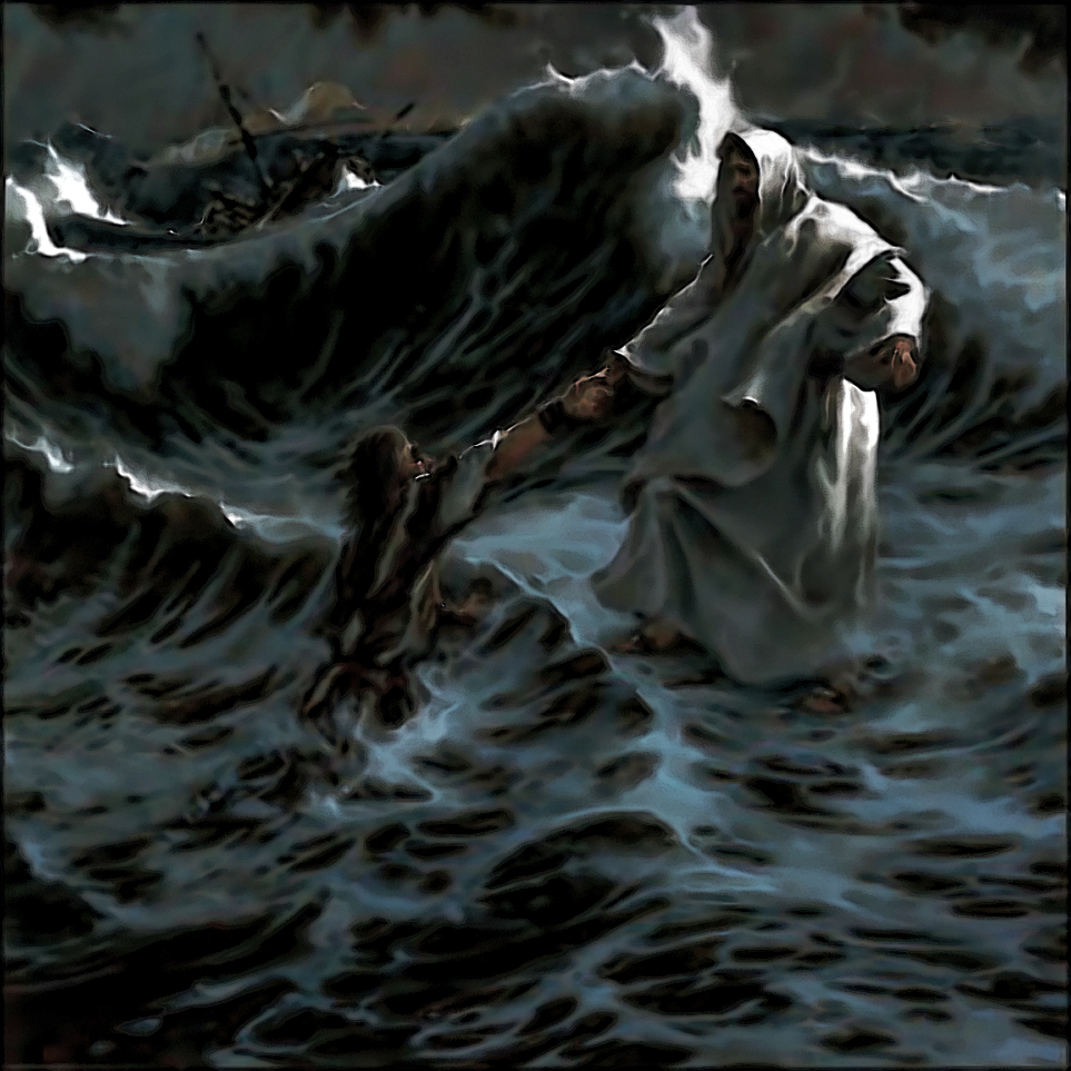 Bildergebnis für jesus saving people from the roaring water images