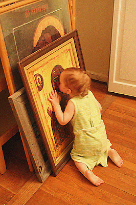 παναγία φιλί μικρό παιδί εικόνα